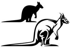 袋鼠设计 免版税库存图片