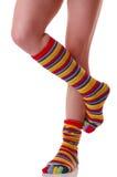 袜子,许多颜色 库存图片