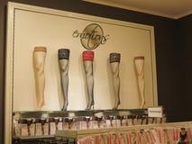 袜子类部门在商店 库存图片