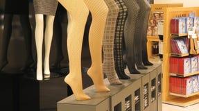 袜子类部门在商店 图库摄影