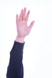 被上升的手投票 免版税库存图片
