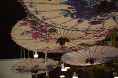 被上油的纸伞 图库摄影