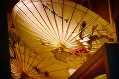 被上油的纸伞 免版税图库摄影