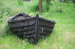 被中断的小船 库存照片