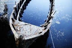 被中断的小船 免版税库存图片