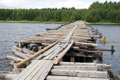 被中断的桥梁 图库摄影