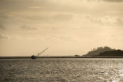 被中断的游艇 免版税库存图片