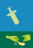 被中断的瓶 免版税图库摄影