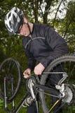 被中断的自行车 免版税库存图片