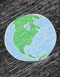 被乱写的地球 免版税图库摄影