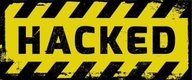被乱砍的黄色警告 免版税库存照片