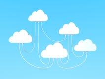 被互联的云彩计算 库存照片
