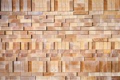 被互锁的木头 库存图片