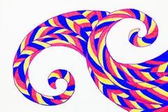 被仿造的波浪的一张手拉的抽象图片 皇族释放例证