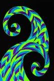 被仿造的波浪的一张手拉的抽象图片 向量例证