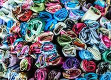 被仿造的织品,泰国背景 库存图片