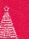被传统化的圣诞节冷杉 免版税库存照片