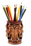 被传统化的玻璃铅笔 库存照片