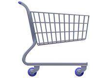 被传统化的购物车购物 免版税库存照片