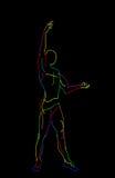 被传统化的跳芭蕾舞者 免版税库存照片