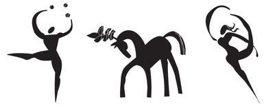 被传统化的马戏徽标 图库摄影