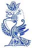 被传统化的鸟埃及样式 免版税库存照片
