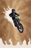 被传统化的摩托车越野赛 免版税库存图片