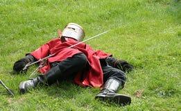 被伤害的骑士 库存照片