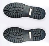 被佩带的启动鞋底 免版税图库摄影