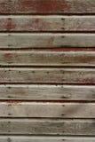 被佩带的谷仓红色纹理 免版税库存图片