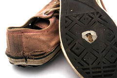 被佩带的运动鞋 免版税库存图片
