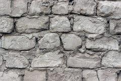 被供气的具体块老墙壁  免版税库存图片