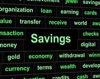 被保存的储款表明金融投资和金钱 皇族释放例证