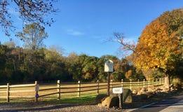被保存的土地在一个秋天早晨 库存图片