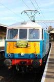 被保存的类86电力机车, Carnforth 免版税库存图片