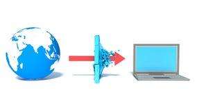 被保护的全球网络互联网 库存图片