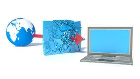 被保护的全球网络互联网 免版税库存图片