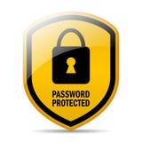被保护的密码 库存图片