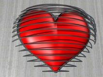 被保护的心脏 库存照片