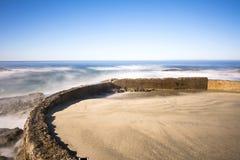 被保护的海滩 库存照片