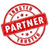 被信任的伙伴不加考虑表赞同的人 库存例证