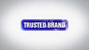 被信任的品牌词3D给木邮票动画赋予生命 向量例证