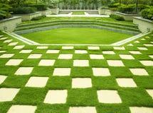 被修剪的草坪 免版税图库摄影