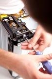 被修理的电路板 免版税库存图片