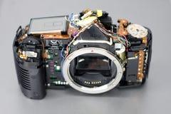 被修理的beging的照相机照片 免版税库存图片