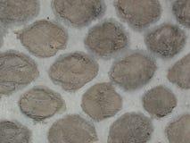 被修补的老篱芭墙壁纹理 免版税库存图片