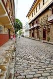 被修补的街道王城区,马尼拉(菲律宾) 免版税图库摄影