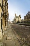 被修补的街道,牛津,英国 免版税库存图片