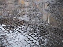 被修补的街道 免版税库存图片