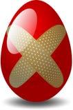 被修补的鸡蛋 库存照片
